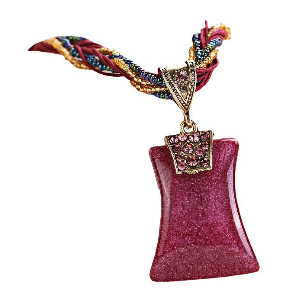 Doinshop Hot Fashion Bohemian Jewelry Statement Earrings Women Rhinestone Gem
