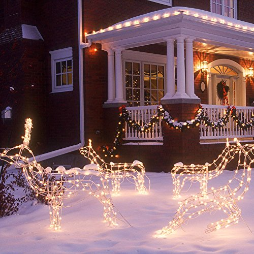CrazyFire LED String Lights, Fairy String Light 33ft 100 LEDs Waterproof Decorative Starry Lights for Bedroom, Patio, Parties (Copper Wire Lights, Warm White) by CrazyFire (Image #3)