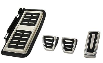 Tapas para pedales deportivos de acero inoxidable con reposapiés: Amazon.es: Coche y moto