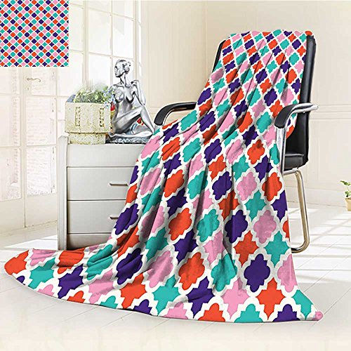 AmaPark Digital Printing Blanket Tiles Oriental Asian Islamic Indonesian Motifsative Home Summer Quilt Comforter by AmaPark
