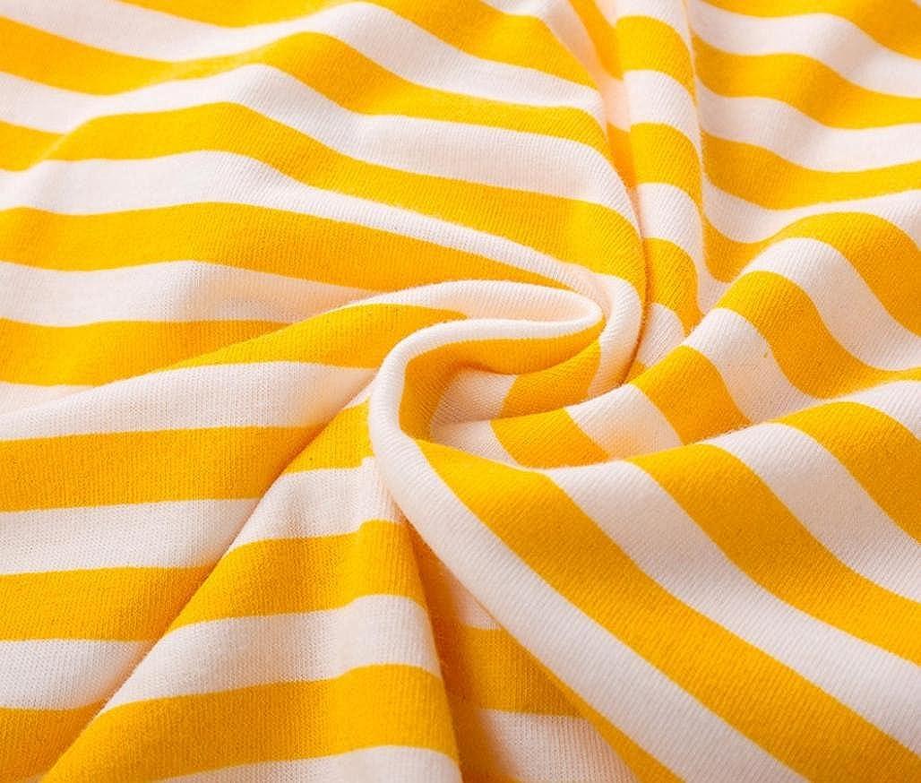 Girls Cotton Long Sleeve Casual Cartoon Animal Appliques Striped Jersey Dresses Kintaz Girl Dress