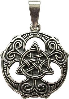 24-Trendshop Triquetra-Knoten Anhänger Amulett Talisman Silber - Schutz und Zusammenhalt