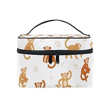 2ba678c978e4 Amazon.com : Cosmetic Case Bag Monkey Portable Travel Makeup Bag ...
