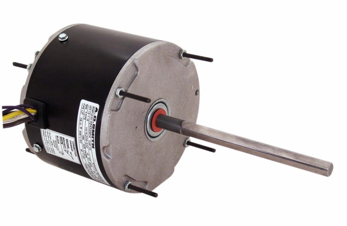 A.O. Smith ORM1008 1/8 HP, 825 RPM, 1 Speed, 48Y Frame, Reversible Rotation, 1/2-Inch by 4.82-Inch Flat Shaft OEM Direct Replacement