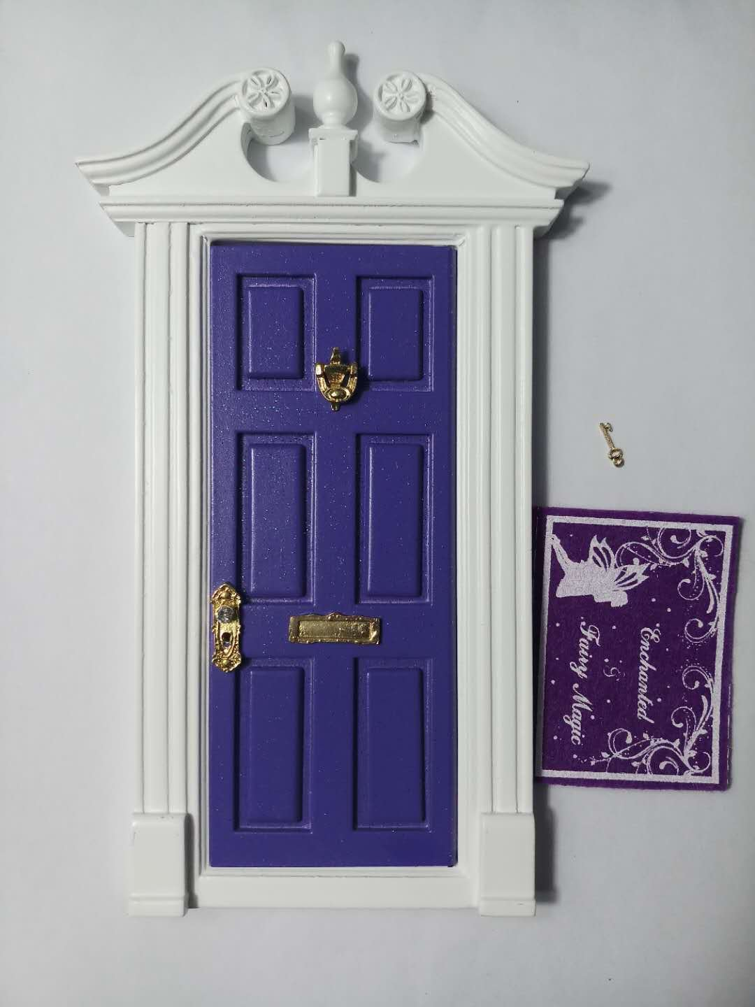 blminiatures Purple Fairy door for The Night Before the Tooth Fairy Loose Tooth Kids Play sets Gifts for First Tooth