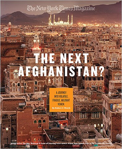 The New York Times Magazine, July 11, 2010 - The Next Afghanistan? A Journey Into Volatile, Fragile, Militant Yemen. By Robert F. Worth (Dashka Slater: The Neo-Medieval X Game of Jousting, Kerry Howley: When Your Spouse Asks To Be Cryogenically Frozen)