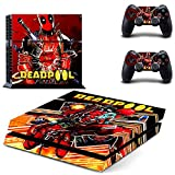 Lucky Store Brand New Skin Decals Sticker of Deadpool for Sony PS4 PlayStation 4 Console and 2 Controller Skins PS4 Skins Cover