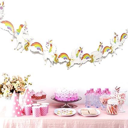 Amazon.com: LQQDD – Pancarta de unicornio para fiesta ...