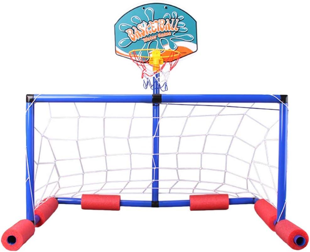 TOYANDONA Juego de Flotador de Piscina Inflable Deportes Polo Acuático Flotante Red de Voleibol Aro de Baloncesto para Niños Y Adultos Juguete de Juego de Natación