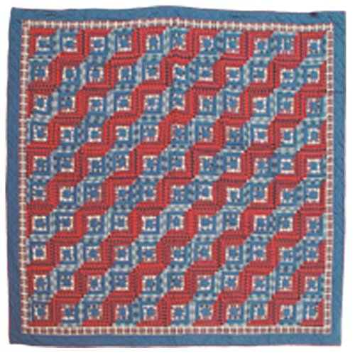 Red Cabin Log (Patch Magic Queen Red Log Cabin Quilt, 85-Inch by 95-Inch)