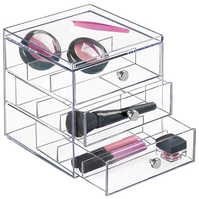 ... gafas | Caja organizadora apilable para gafas, gafas de lectura y gafas de sol | Caja para gafas con 3 cajones | Plástico transparente: Home & Kitchen