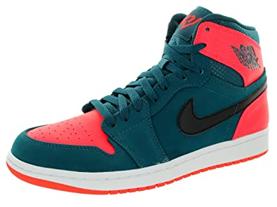250aeb777017d  332550-312  AIR Jordan AJ 1 Retro HIGH Mens Sneakers AIR JORDANTEAL Black