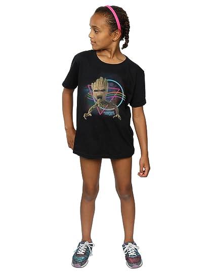 Marvel niñas Guardians of the Galaxy Neon Groot Camiseta: Amazon.es: Ropa y accesorios