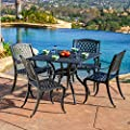 Marietta Outdoor Cast Aluminum Dining Set