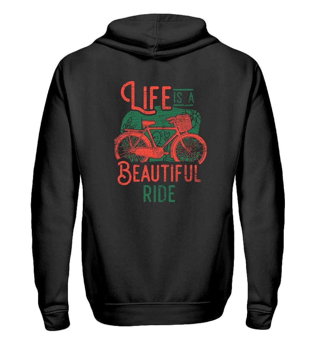 Life is A Beautiful Ride - Rad Fahrrad Radfahrer Fahrradfahrer Radler Fahrradfahrerin Bike - Zip-Hoodie