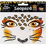 Forum Novelties Face Designs-Leopard, Multi, Standard (74478)
