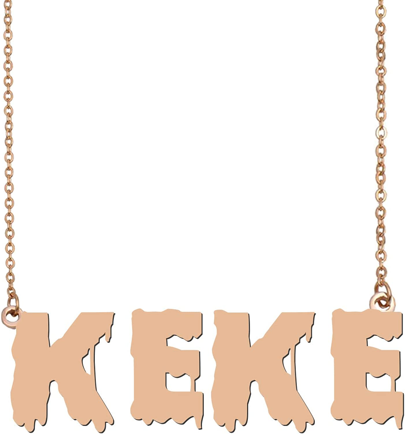 HUAN XUN Personalized Name Necklace Custom Made Pendant Jewelry Gifts