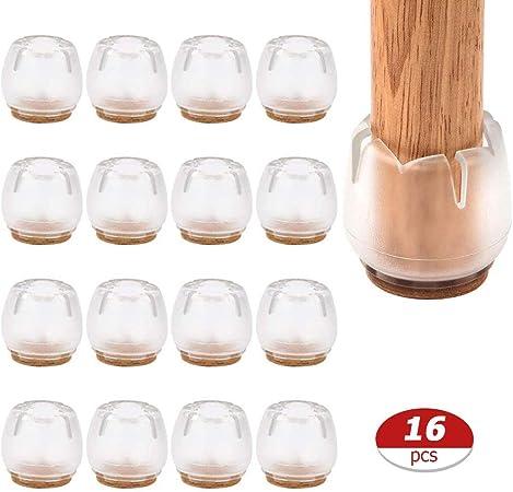 4 PCS, Transparent Housse de protection de jambe de meubles en silicone,Couvre-pieds de chaise Coussinets de pieds Couvre-pieds de table Protecteur de plancher