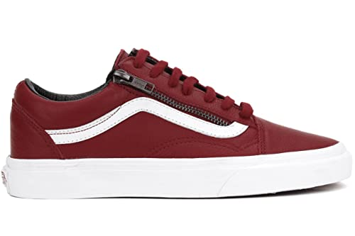 36b88a93f14 Vans ADULT Old Skool Zip Leather Red 11.5 UNISEX: Amazon.co.uk ...