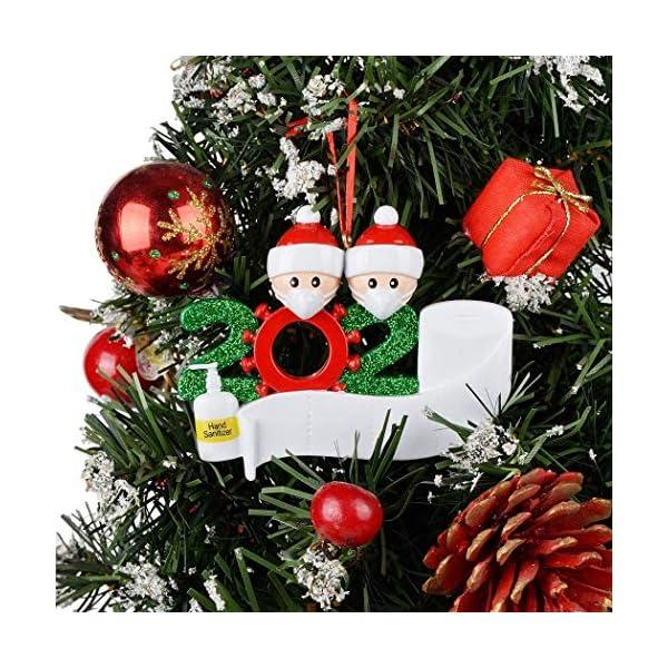 Afaneep Ornamenti Natalizi Decorazioni DIY 2 Persone con Nome Personalizzato Sopravvissuto Personalizzato, Ciondolo Albero di Natale, Famiglia di Decorazioni Natalizie Regali di Festa 3 spesavip