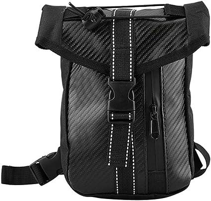 style en fibre de carbone Moto sac /à bandouli/ère taille sac /à bandouli/ère Sac de rangement /étanche Sac de jambe de moto