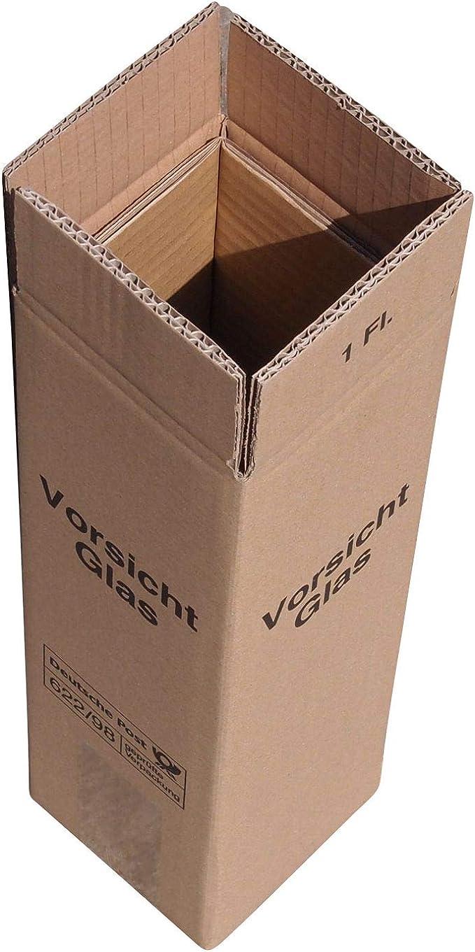 A&F - Caja de cartón para envíos para 1 botella (caja, estuche y tapadera), aprobada por DHL y UPS (10 unidades): Amazon.es: Oficina y papelería