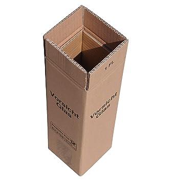 20 x Cajas de Cartón de vino vino de cartón para 1 botella ...