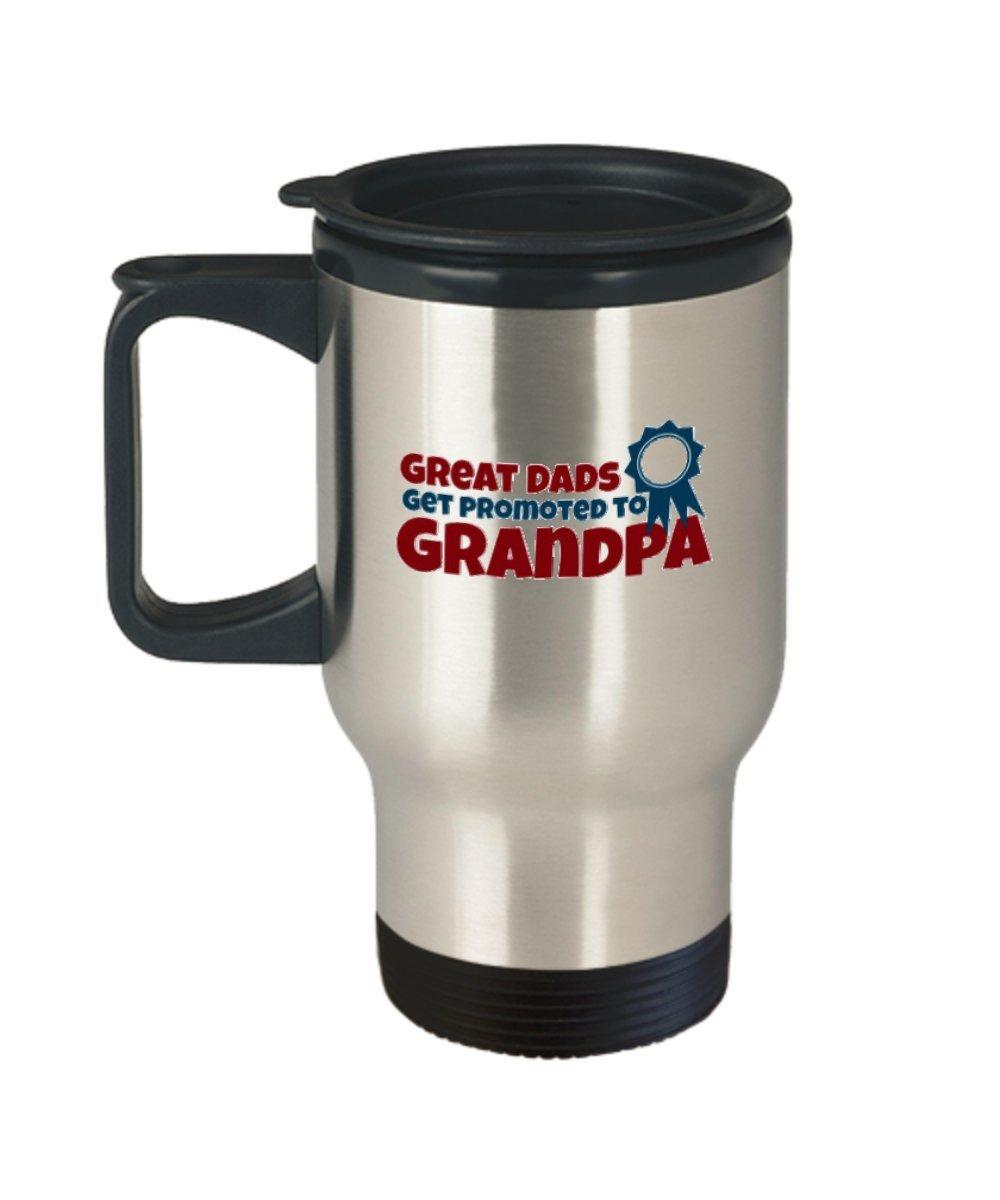 GREATお父さん達に昇格おじいちゃんTravel Mug Perfectノベルティ父の日Present Idea For父から息子、娘や夫、インスピレーションカップFo   B07BTLKV5D