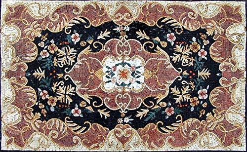 Mozaico Flower Rug Mosaic   Mosaic Designs   Mosaic Artwork   Mosaic Wall Art Handmade Mosaics   47