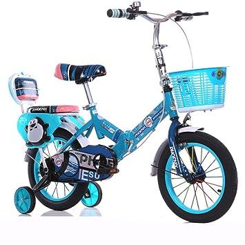 SL&VE Bicicleta para niños, Plegable Bicicleta infantil Bebé Portador de la, 3-10