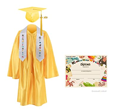 c3718773a18 GraduationMall Kindergarten Graduation Cap Gown Stole Package with 2018  Tassel