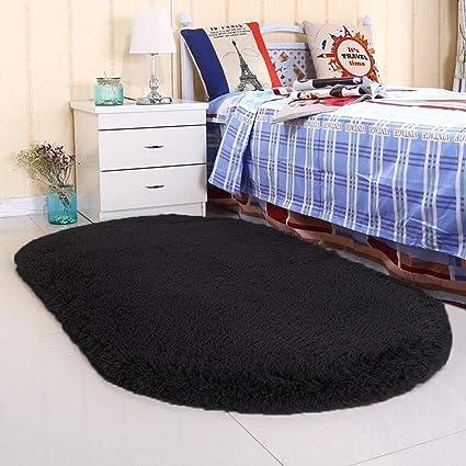 Amazon.com: Noahas Ultra Soft 4.5cm Velvet Bedroom Rugs Kids Room Carpet  Modern Shaggy Area Rugs Home Decor 2.6u0027 X 5.3u0027 (Black): Kitchen U0026 Dining