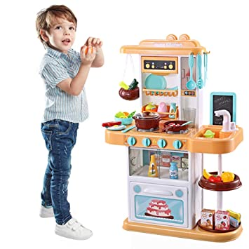 Amazon.com: Pretend Play Kitchen Set, Simulation Kitchen Toy ...