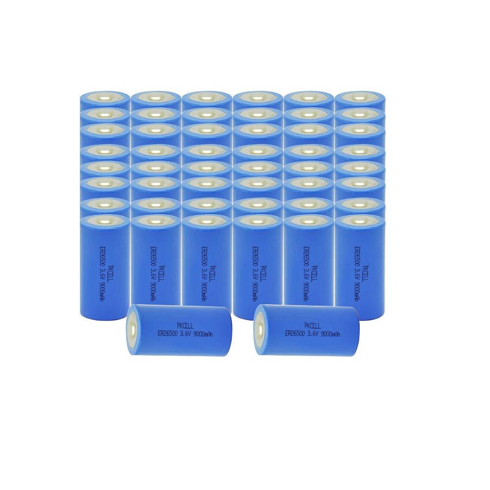 ER26500 C Cell Lithium Batteries 3.6V 9000mAh Li-SOCl2 Battery 50pcs by PKCELL (Image #1)