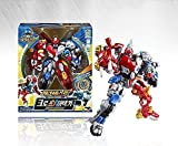 KoreaTV Animation Biklonz Mega Beast Cross Attacker Two Copolymers Transforming Coalescence Robot, Action Figure Transformer Robot + Super Wings sticker(2 Piece)