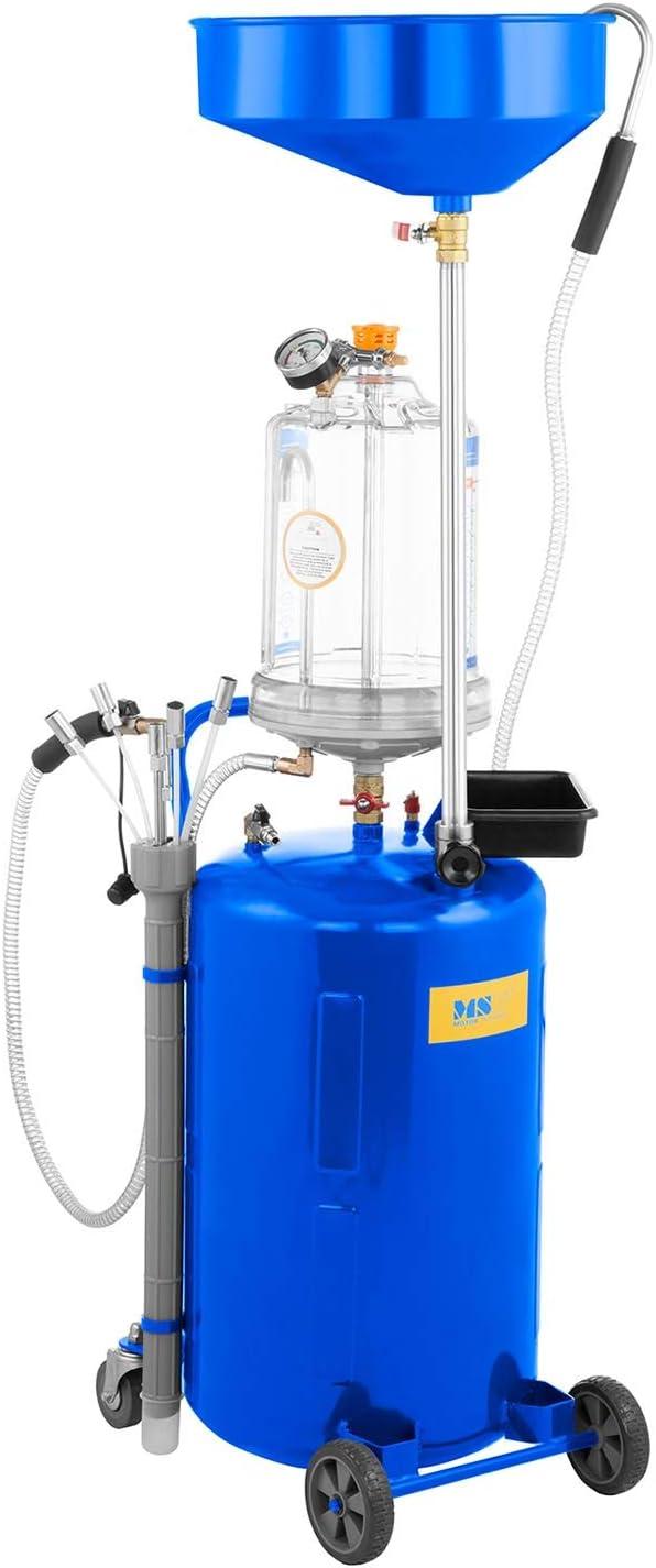 MSW Aspirador De Aceite Con Tanque De 75 L MSW-OBG80D (Temperatura Del Aceite Entre 40 y 60 °C, 9 Bar, Ruedas Delanteras Móviles En PVC): Amazon.es: Bricolaje y herramientas