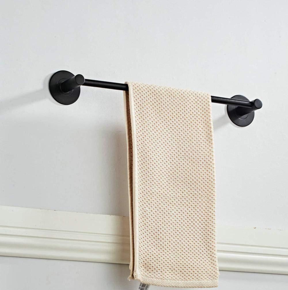 40 cm. YXDOO Barra de toalla sin taladros Aleaci/ón de aluminio Toallero de ba/ño Negro mate