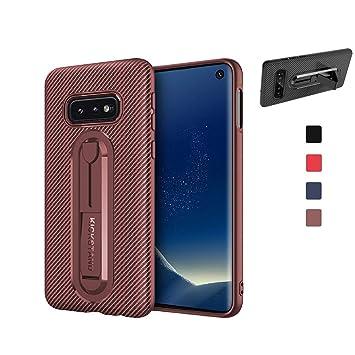 AChris Funda Samsung Galaxy S10e S10 Lite con Soporte Carcasa con Kickstand Carbon Fiber TPU de Silicona Bumper Case Carcasa Fundas Ultra-Delgado ...