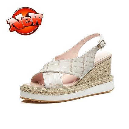 QINGTAOSHOP Scarpe da donna donna sandali con tacco impermeabile con  plateau e tacco alto 692bfd3270e