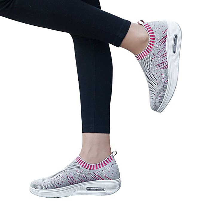 Zapatillas de Deporte JiaMeng Moda de Malla al Aire Libre Calzado Deportivo Informal Zapatillas con amortiguación de Aire con Suela Gruesa: Amazon.es: Ropa ...