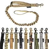 FDC Training Dog Bungee Leash Tactical Heavy Duty with Control Handle Quick Release for Medium Large Dogs (Stretched Length- 46'' / Non-Stretched Length- 30'', Coyote Desert TAN)