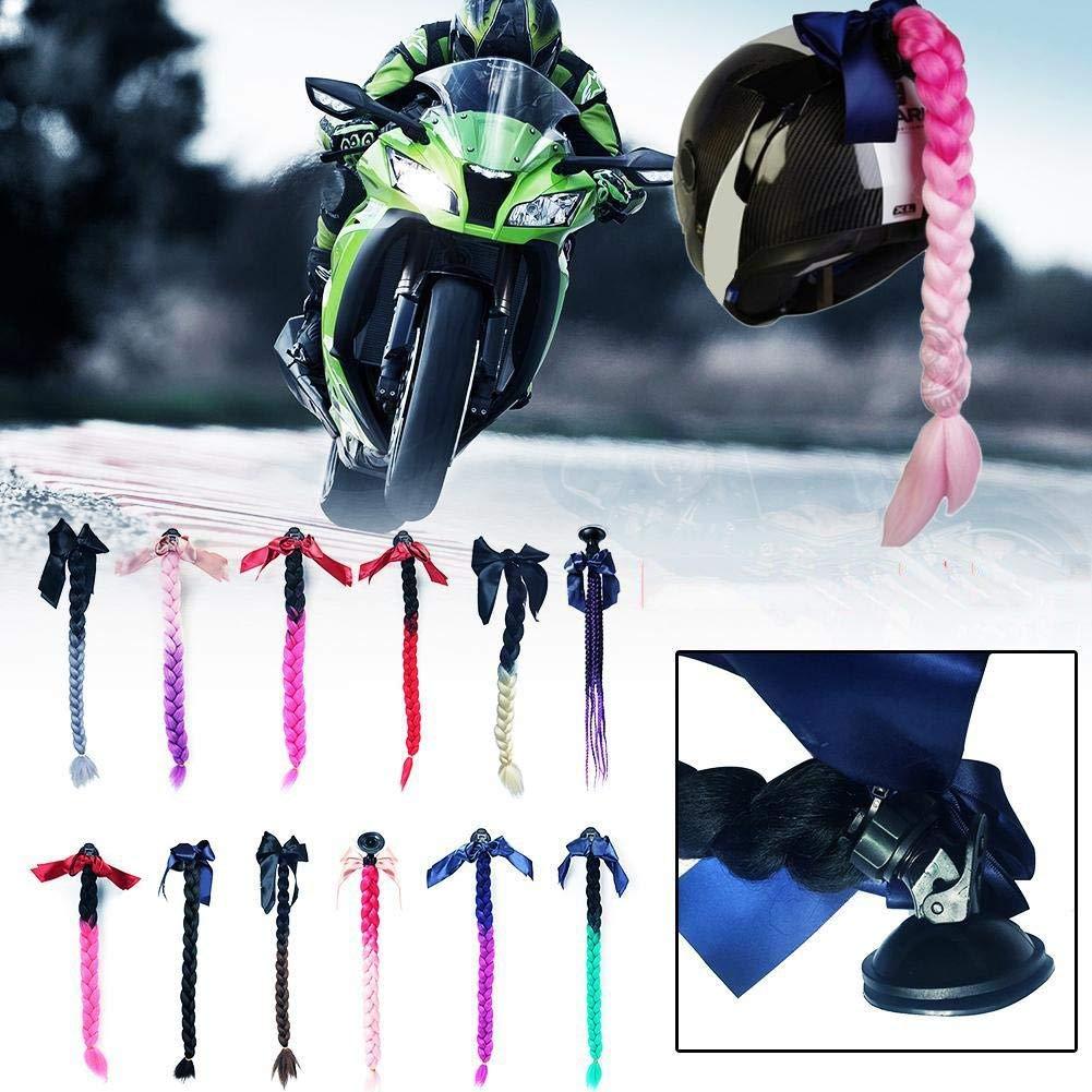 El Casco No Est/á Incluido Inicio Cascos de Moto Trenza Trenzas de Pelo Rampa de Gradiente con Ventosa para Motocross Moto Cara Completa Off Road Moto Capacete decoraci/ón