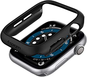Spigen Thin Fit Designed for Apple Watch Case for 44mm Series 6/SE/5/4 - Black