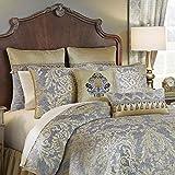 Croscill Nadia King Comforter Light Grey