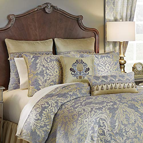 Croscill Nadia Queen Comforter, Light Grey