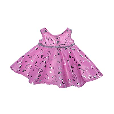 "Pink & Silver Dress Teddy Bear Clothes Outfit Fits Most 14"" - 18\"" Build-a-bear and Make Your Own Stuffed Animals : Toys & Games [5Bkhe0905545]"
