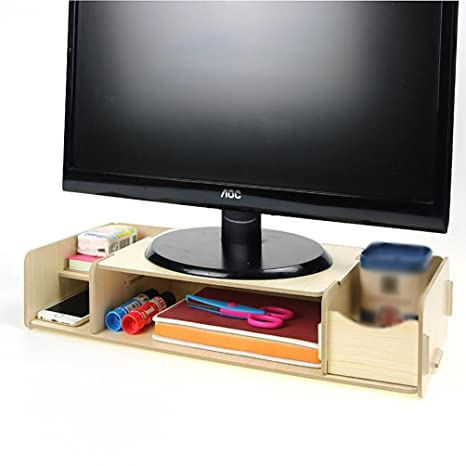 Menú vida universal soporte de pantalla de TV Monitor de PC de madera de sobremesa Base