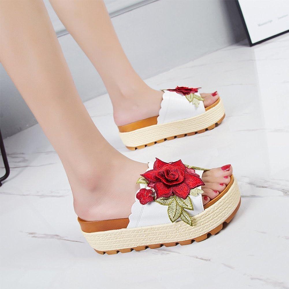 Suela Verano Zapatillas Señora La Gruesa Weiwei Plano De fondo vwO6ffx