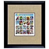 American Coin Treasures Super Heroes 2 U.S. Stamp Sheet In 16x14 Wood Frame