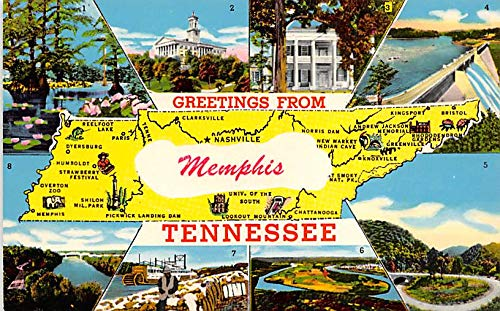Greetings from Memphis, Tennessee, USA Postcard Unused